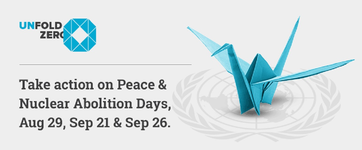 Take action for nuclear abolition days, Aug 29 and Sep 26